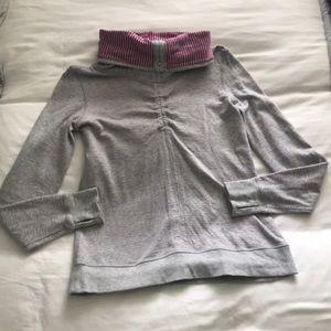 Lululemon Reversible Cowl Neck Pullover